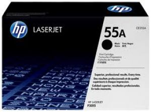 HP 55A BLACK ORIGINAL LASERJET TONER CARTRIDGE CE255A HP LASER P3015