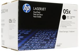 HP 05X-2-PACK HIGH YIELD BLACK ORIGINAL LASERJET TONER CARTRIDGE CE505XD