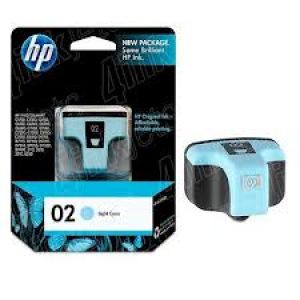 HP 02 LIGHT CYAN INK CARTRIDGE(C8774WA)