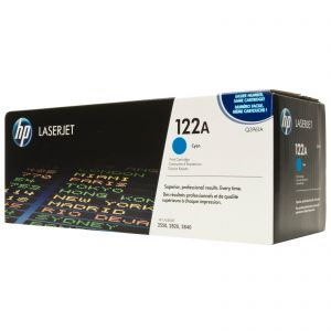 HP 122A CYAN ORIGINAL LASERJET TONER CARTRIDGE(Q3961A)