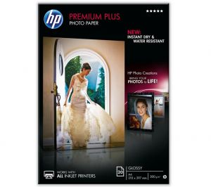 HP Premium Plus Glossy Photo Paper-20 sht/A4/210 x 297 mm[CR672A]