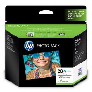 HP 28 Photo Pack Glossy 4X6.5 AP 25 sht[Q8893AA]